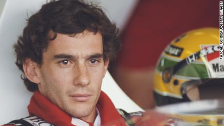 Portrait of Ayrton Senna of Brazil as he sits aboard the #1 Honda Marlboro McLaren McLaren MP4/5 Honda V10 during practice for the Hungarian Grand Prix on 12 August 1989 at the Hungaroring Circuit, Budapest, Hungary. (Photo by Pascal Rondeau/Getty Images)