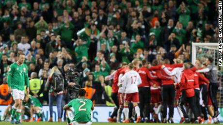 The agony and the ecstasy, Irish players react after losing out on a place at next summer's World Cup.