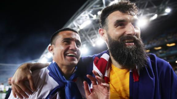 After 29 months, 22 matches and hundreds of thousands of miles of traveling, the Socceroos celebrated qualifying for a fourth consecutive World Cup.