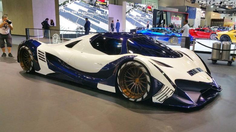 Mph Devel Sixteen Hypercar Unveiled CNN - Car show dubai