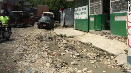 Haiti is one of the poorest countries in the world. Pictured, crumbling infrastructure is widepsread.