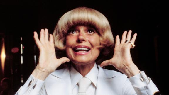 "Carol Channing, whose most famous role was as Dolly Levi in the Broadway musical ""Hello Dolly!"" charmed audiences for decades with her trademark raspy voice and huge smile. The actress, pictured here in 1979, has died at age 97, her publicist said Tuesday, January 15."