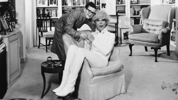 The actress with her son, Channing Carson, in their New York apartment in 1965.