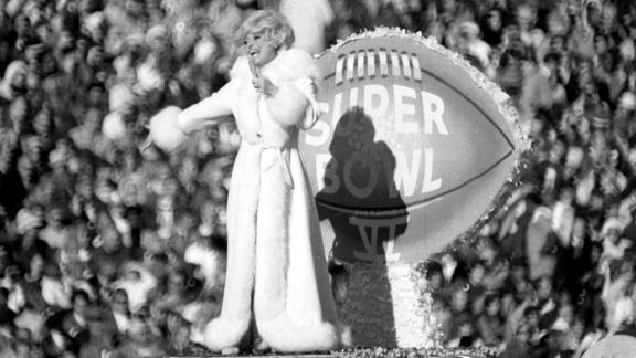 Channing performs during halftime of the Super Bowl in 1972 in New Orleans.