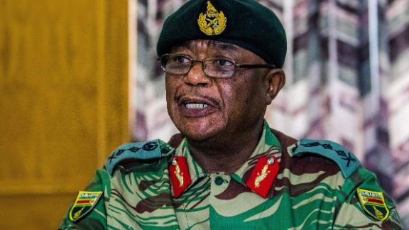Zimbabwe Army General Constantino Chiwenga, Commander of the Zimbabwe Defence Forces.