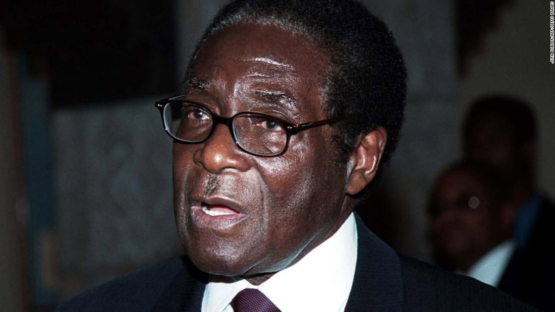 Mugabe speaks during the Southern Africa trade and investment summit in Windhoek, Namibia, in October 2000. Earlier in the year, he implemented a controversial land-reform program that saw the seizure of land from some 4,000 white farmers.