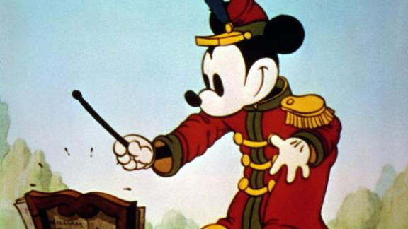 """The first color short of Mickey Mouse was """"The Band Concert"""" in 1935."""