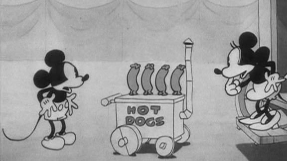 """The 1929 film """"The Karnival Kid"""" was the first time Mickey first spoke, exclaiming, """"Hot dogs!"""""""