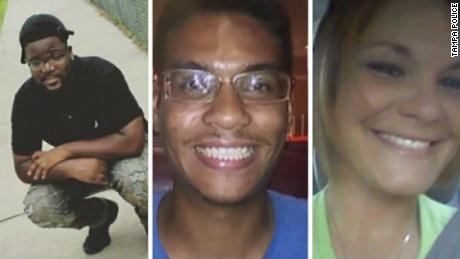 From left, Benjamin Mitchell, Anthony Naiboa and Monica Hoffa were killed within 11 days in Tampa. Ronald Felton was shot in the back Tuesday morning, becoming the fourth victim in a string of killings that has vexed investigators.