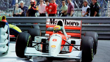 Senna won three F1 titles with McLaren and a record six Monaco Grand Prix