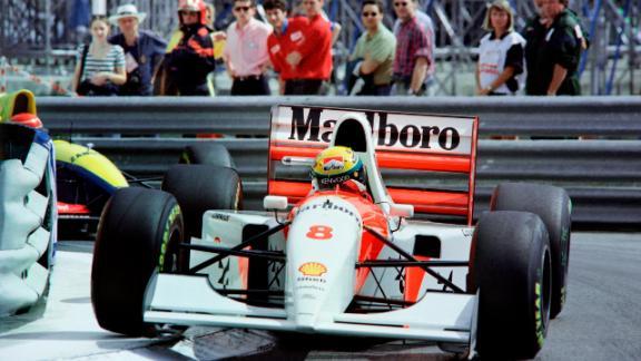 Senna won three F1 titles with McLaren and a record six Monaco Grand Prix