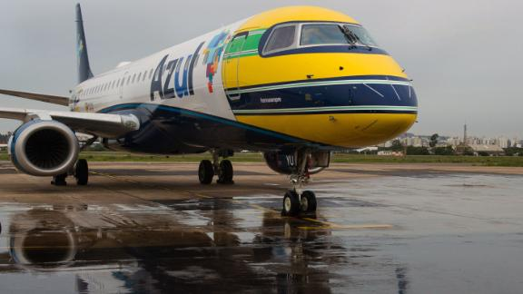 Azul Brazilian airlines paid tribute to Senna 20 years after his death