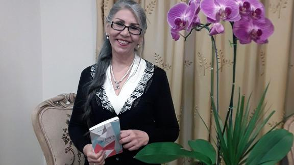 Sabet at her Tehran home in a recent photograph taken after her release.