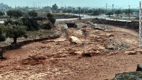 Mandra, a town northwest of Athens, has been one of the areas most affected by the flooding in Greece.