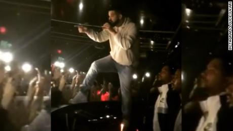 "Drake told a fan in the crowd to ""stop touching girls"" mid-performance"