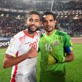Ghaylane Chaalali and Aimen Balbouli tunisia celebrate football world cup