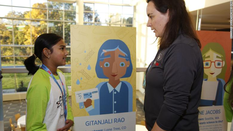 Gitanjali Rao with Kathleen Shafer.