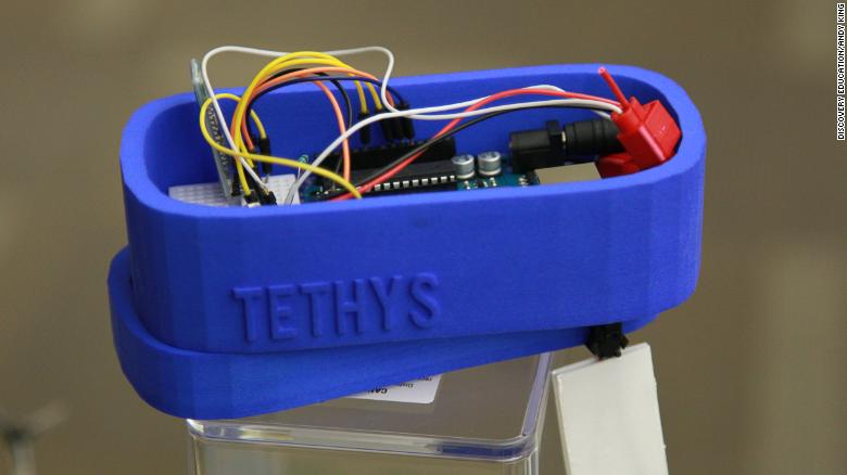 The Tethys device prototype.