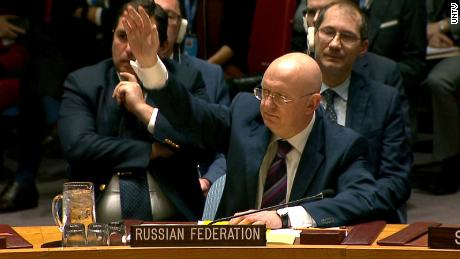 "Russia vetoes UN resolution on Syria chemical weapons probe    Russia vetoed a UN Security Council resolution Thursday that would have renewed a mandate for the Joint Investigative Mechanism (JIM), an independent group probing the use of chemical weapons in Syria.  President Donald Trump tweeted earlier Thursday, urging the UN SC to vote to renew the JIM to ""ensure that Assad Regime does not commit mass murder with chemical weapons ever again.""  As a permanent member of the UN Security Council, Russia can prevent passage of resolutions by veto.  ""Russia accepts the use of chemical weapons in Syria,"" US Ambassador Nikki Haley said, following the veto.  Russia previously vetoed a UN Security Council resolution to extend the mandate of the JIM in October. Russia says the group is biased against the Assad government."