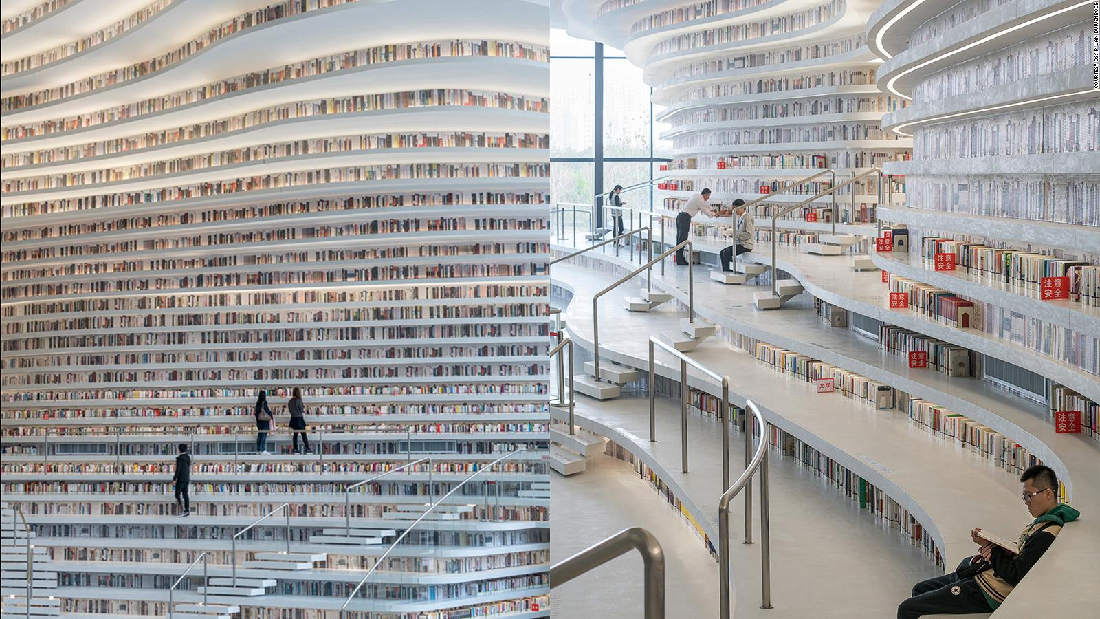 New Library In Tianjin China Looks Out Of This World Cnn