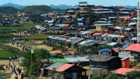 General view of the Thankhali refugee camp in the Bangladeshi district of Ukhia on November 15.