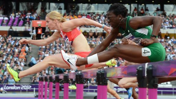 Seun Adigun at the London 2012 Olympics.