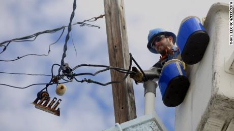 Power service has been slow to return to many parts of Puerto Rico.