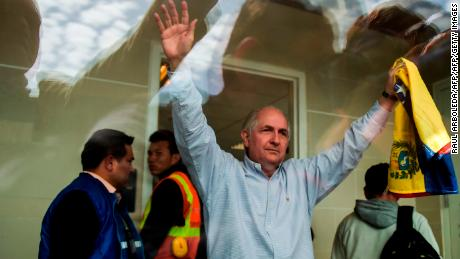 Jailed Venezuelan opposition leader escapes house arrest, flees to Spain