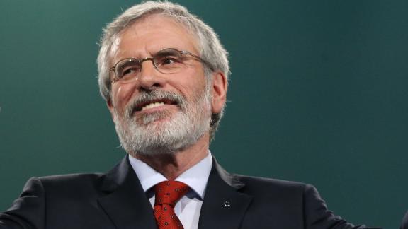 Sinn Fein President Gerry Adams addresses the Sinn Fein annual conference.