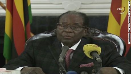Zimbabwean President Mugabe addresses nation