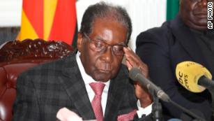Robert Mugabe resigns after 37 years as Zimbabwe's leader