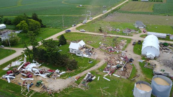 Two separate Midwest storms each contributed over a billion dollars in damages in June. One caused $1.4 billion of damage due to straight-line winds, hail and more than a dozen tornadoes in Iowa and Nebraska. Another series of storms from Wyoming to New York contributed at least $1.5 billion of damage due to similar conditions, severe winds, tornadoes and destructive hail.