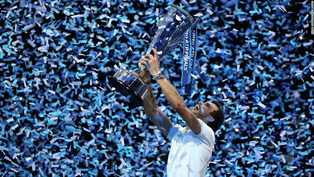 "Grigor Dimitrov lifts his trophy after winning the ATP World Tour Finals on Sunday, November 19. The Bulgarian <a href=""http://www.cnn.com/2017/11/20/tennis/grigor-dimitrov-wins-atp-finals-bulgarian-reaction/index.html"" target=""_blank"">defeated David Goffin in the final</a> and moved to No. 3 in the world rankings."