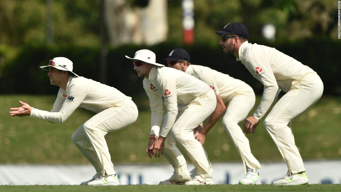 England slip fielders watch the ball Friday, November 17, during an Ashes tour match against Cricket Australia XI.