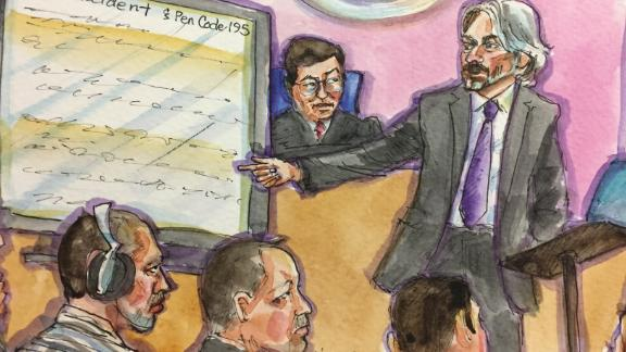 Sketches from the Steinle/Zarate Trial on 11/20 - Closing Arguments