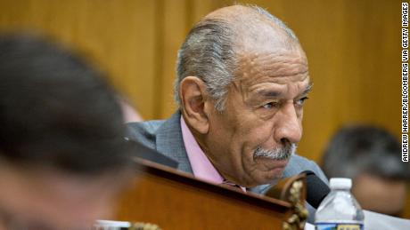 Representative John Conyers, a Democrat from Michigan and ranking member of the House Judiciary Committee, makes an opening statement during a hearing with Jeff Sessions, U.S. attorney general, not pictured, in Washington, D.C., U.S., on Tuesday, Nov. 14, 2017. Sessions denied he lied or misled Congress about contacts with Russia by people involved in Donald Trump's presidential campaign. Photographer: Andrew Harrer/Bloomberg via Getty Images