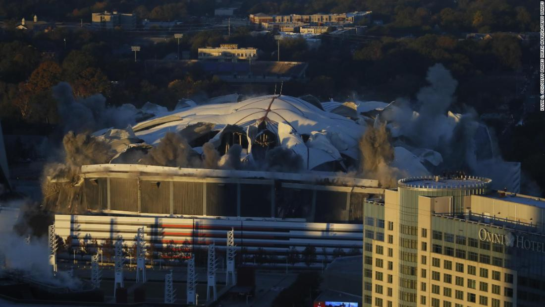 Georgia Dome Demolition >> En 12 segundos desapareció el Georgia Dome - CNN Video