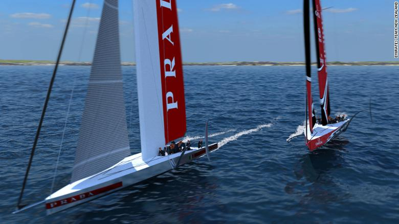 The boats for the 2021 America's Cup in New Zealand will be radical 75 foot foiling monohulls.