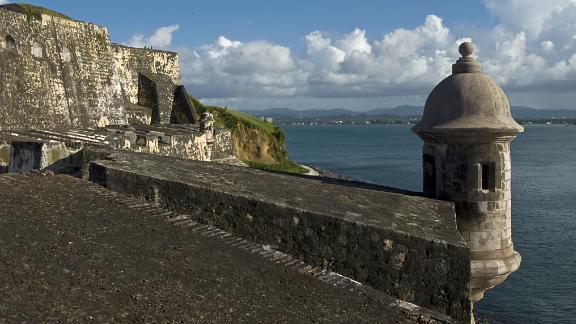 The Castillo San Felipe del Morro in San Juan, on August 1, 2010.The San Felipe del Morro Fort is a fortification built in XVI century the north end of San Juan, Puerto Rico. (Luis Acosta/AFP/Getty Images)
