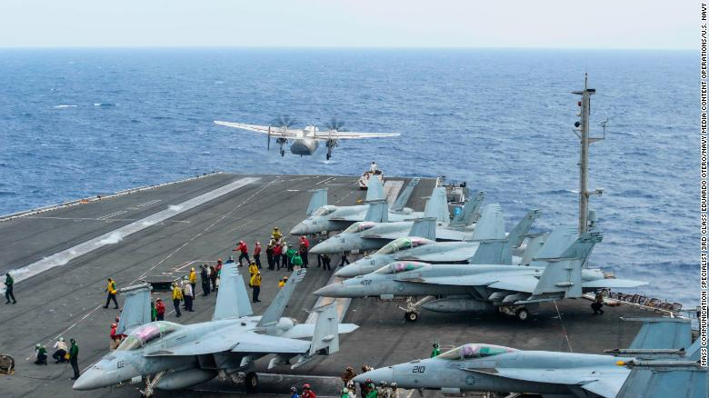 US Navy aircraft crashes in the Philippine Sea