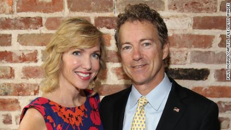 "WASHINGTON, DC - APRIL 29:  Author Kelley Paul and her husband Sen. Rand Paul (R-KY) attend Capitol File's book release party for Kelley Paul's ""True and Constant Friends"" on April 29, 2015 at ENO Wine Bar in Washington, DC.  (Photo by Paul Morigi/Getty Images for Capitol File Magazine)"