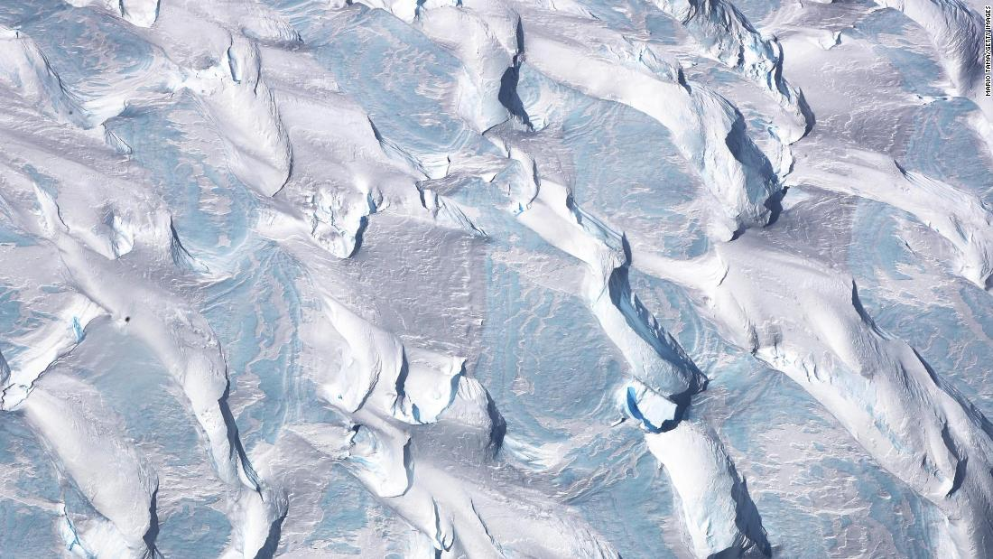 <strong>Antarctic Peninsula:</strong> Polar ice is photographed from NASA's Operation IceBridge research aircraft, which in October 2017 was conducting research flights over West Antarctica to monitor ice loss in the region. <br />