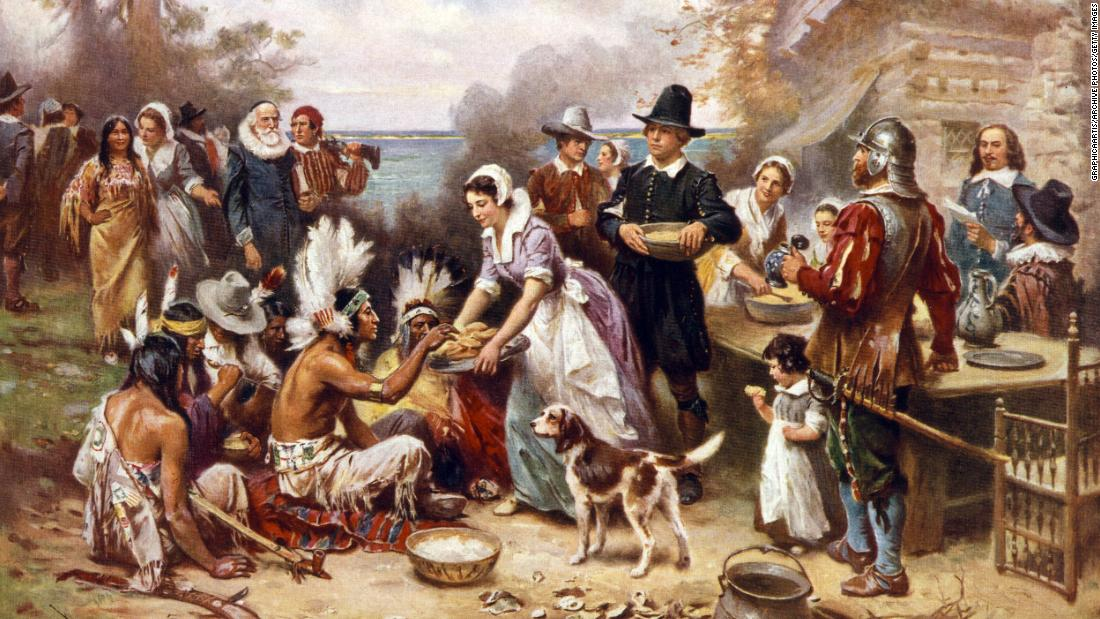Pilgrims survived until the first Thanksgiving thanks to an epidemic that devastated Native Americans