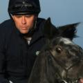 Michael Owen close up on horse 2017