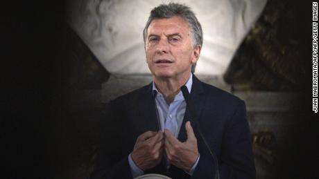 "Argentine President Mauricio Macri speaks during a press conference at Casa Rosada presidential palace in Buenos Aires on October 23, 2017 in the aftermath of national legislative elections. Argentina's President Mauricio Macri's center-right coalition swept crucial midterm elections Sunday and emerged with a strengthened hand to carry through pro-market economic reforms. Macri's Cambiemos, or ""Let's Change,"" won in 13 of Argentina's 23 provinces, as well as in the capital Buenos Aires, according to almost completed counts early Monday. / AFP PHOTO / JUAN MABROMATA        (Photo credit should read JUAN MABROMATA/AFP/Getty Images)"