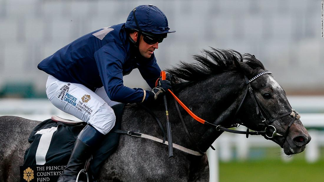 The former footballer was riding Calder Prince, trained by Tom Dascombe who is based at Owen's Cheshire stables