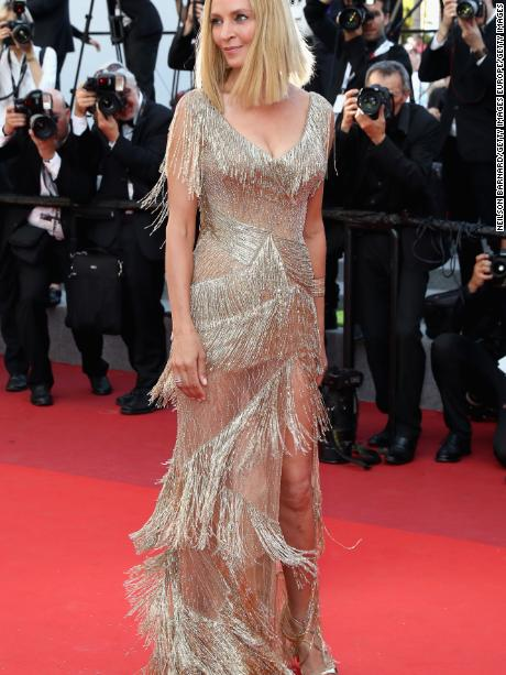 CANNES, FRANCE - MAY 28:  President of the Un Certain Regard jury Uma Thurman attends the Closing Ceremony during the 70th annual Cannes Film Festival at Palais des Festivals on May 28, 2017 in Cannes, France.  (Photo by Neilson Barnard/Getty Images)
