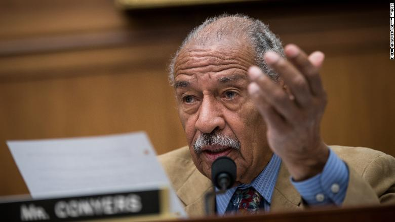 WASHINGTON, DC - OCTOBER 26: Rep. John Conyers (D-MI) questions witnesses during a House Judiciary Committee hearing concerning the oversight of the U.S. refugee admissions program, on Capitol Hill, October 26, 2017 in Washington, DC. The Trump administration is expected to set the fiscal year 2018 refugee ceiling at 45,000, down from the previous ceiling at 50,000. It would be the lowest refugee ceiling since Congress passed the Refugee Act of 1980. (Photo by Drew Angerer/Getty Images)