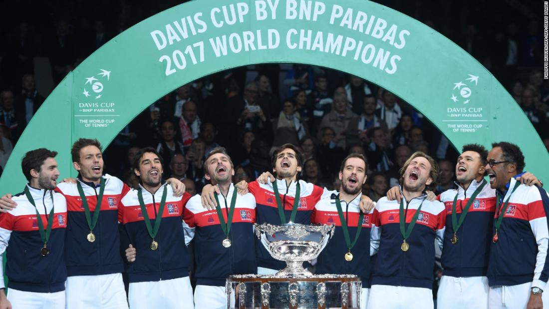 Davis cup final france lifts trophy for 10th time cnn - Coupe davis victoire france ...