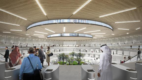 Concept art for a Hyperloop One Dubai terminal. In October, company CEO Rob Lloyd told local news that construction will begin in 2019 with testing to commence at production level in 2021.